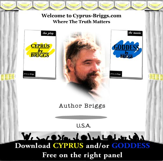 On stage with Cyprus - the play and Goddess - the movie, with Author Freedom Fighter Briggs